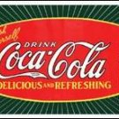 Coke Starburst Bottle Tin Sign #1131