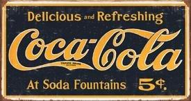 Coke Weathered 1910 Logo Tin Sign #1235
