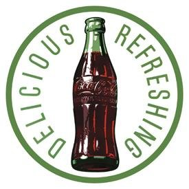 Coke 60's Bottle Tin Sign #1071
