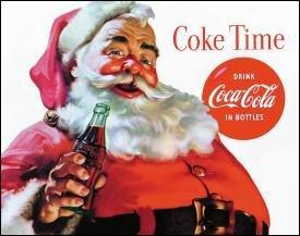 Coke Santa Time Tin Sign #1046
