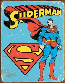 Superman Tin Sign #1335