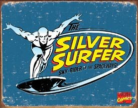 Silver Surfer Tin Sign #1439