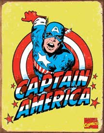 Captain America Tin Sign #1440