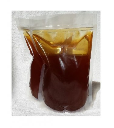 100% RAW PURE NATURAL BUCKWHEAT HONEY 7 pounds stand-up zipbag's