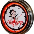"17"" Neon Wall Clock- Betty Boop"