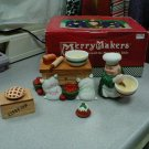 DEPARTMENT 56 MERRY MAKERS MAXWELL THE MIXER @ HIS TABLE - BRAND NEW!!