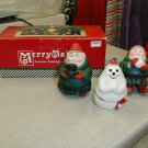DEPARTMENT 56 MERRY MAKERS SEYMORE,SEIGFRIED & SNOWMAN - BRAND NEW!