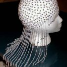 LONG DANGLE PEARL BEADED DRAG QUEEN HEADPIECE SEXY HOT!
