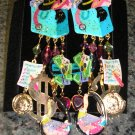 Adorable &quot;I LOVE TO SHOP Clip-On Earrings BRAND NEW - similar to Puttin On The Ritz brand