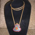 Colorful Little Change Purse Necklace/Pendant - ADORABLE!