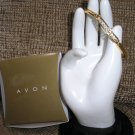 AVON Goldtone Rhinestone Bangle Bracelet - Size LARGE