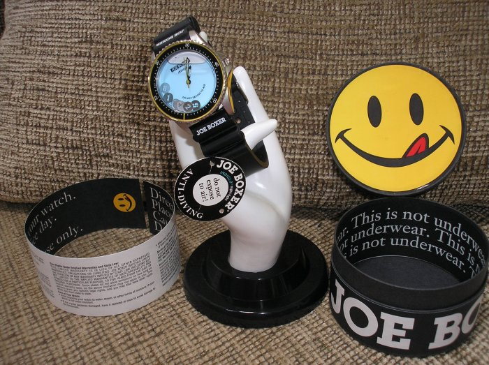 """JOE BOXER """"ANTI DIVING"""" WATCH with Floating Numbers! MEN's Timex Indiglo WATCH!"""