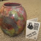 RAKU CLAY POT by ARTIST JEROME HECK from HAWAII - BRAND NEW - ONE OF A KIND!