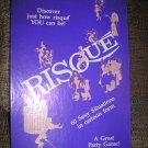 RISQUE! A GREAT PARTY GAME! 60 SEXY SITUATIONS IN CARTOON FORM - VINTAGE - RARE - 1985!