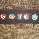 TY BEANIE BABIES OFFICIAL CLUB COLLECTOR'S LAPEL PIN SET with FLASH - BRAND NEW IN BOX!