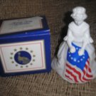 "AVON VINTAGE COLOGNE DECANTER - ""BETSY ROSS FIGURINE"" - NEW IN ORIGINAL BOX!"