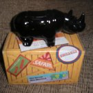 "AVON VINTAGE AFTER SHAVE DECANTER - ""WILD RHINO"" - NEW IN ORIGINAL BOX!"