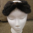 VINTAGE HALO TRIPLE RING HAT - CHOCOLATE BROWN MINK - GLAMOROUS & UNIQUE!