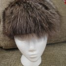 VINTAGE RACCOON HAT - BROWN/BLONDE - WARM and GORGEOUS!