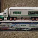 1992 Hess 18 Wheeler Truck and Racer with FRICTION MOTOR and LIGHTS - BRAND NEW IN BOX!