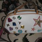 DOONEY & BOURKE CHARM MINI DUFFLE - WHITE LEATHER BAG NEW WITHOUT TAG - AUTHENTIC!