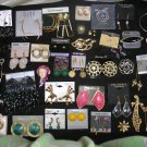 JEWELRY LOT of 45+ pcs-PIERCED/CLIP EARRINGS,PINS,PIC FRAME PIN + GREAT FOR NEW CONSIGNMENT SHOP!