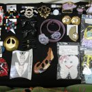 JEWELRY LOT of 75+ PCS-STAINED GLASS FIGURINES,SHOE CLIPS,BUTTON COVERS,VINTAGE PCS DIAMOND & MORE!