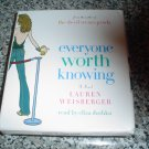 EVERYONE WORTH KNOWING by LAUREN WEISBERGER (AUDIO CD) BOOK (UNABRIDGED)!