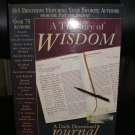 A TREASURY OF WISDOM: A DAILY DEVOTIONAL JOURNAL (LEATHER BOUND) by Ken & Angela Abraham!