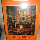 THE HOLY BIBLE-(OLD TEST)DOUAY-CHALLONER TEXT,(NEW TEST/PSALMS)CONFRATERNITY TEXT PAPAL ED. LEATHER!