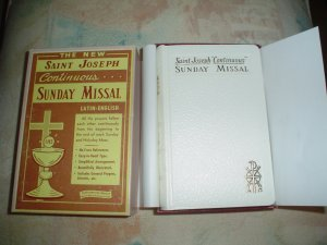 """THE NEW SAINT JOSEPH""""CONTINUOUS""""SUNDAY MISSAL AND HYMNAL FOR SUNDAYS AND HOLYDAYS(LEATHER BOUND)NEW!"""