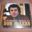 LEGENDARY SONGS OF DON MCLEAN CD in EXCELLENT CONDITION!