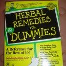 HERBAL REMEDIES FOR DUMMIES (Paperback) by Christopher Hobbs!