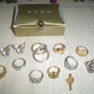 LOT of AVON JEWELRY-12 Pc-RINGS,EARRINGS,SILVER,GOLD-GREAT FOR CONSIGNMENT SHOP/VINTAGE BOUTIQUE!