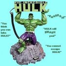 INCREDIBLE HULK TALKING ACTION PHONE by MARVEL - TALKS, MOVES, LIGHTS UP - #40948!