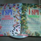 I SPY CHRISTMAS AND I SPY SUPER CHALLENGER! (Hardcover) books ~ Jean Marzollo!