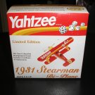 YAHTZEE LIMITED EDITION 1931 STEARMAN DIE-CAST BI-PLANE AIRPLANE - BRAND NEW IN BOX!
