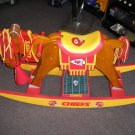 KANSAS CITY CHIEFS WOODEN ROCKING HORSE by THE DANBURY MINT - OUT OF PRODUCTION - RARE!