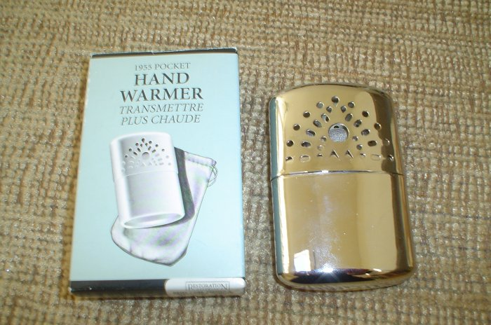1955 POCKET HAND WARMER by RESTORATION HARDWARE - CHROME PLATED - BRAND NEW!
