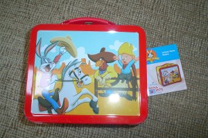"LOONEY TUNES SCHOOL DAYS ""RODEO"" LUNCHBOX TIN by HALLMARK - 1998 - NEW!"