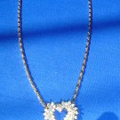 ROMANTIC RHINESTONE HEART NECKLACE - DELICATE AND STRIKING!