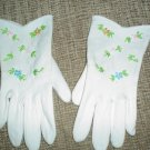 VINTAGE WRIST LENGTH GLOVES WITH FAUX PEARL AND SEED BEAD EMBELLISHMENTS - PERFECT FOR TEA PARTIES!