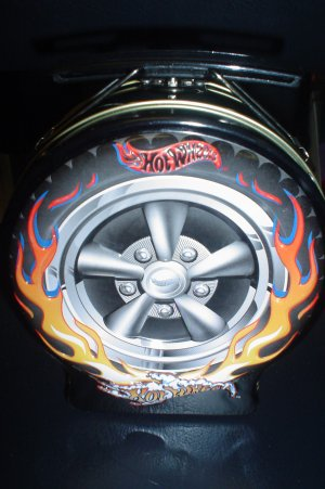 "HOT WHEELS COLLECTIBLE CANDY TIN - ""WHEEL IN FLAMES"" - SMOKIN'!"