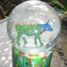 "THE COW PARADE COLLECTION WATER GLOBE - ""MOONET"" #7233 by WESTLAND GIFTWARE - RETIRED!"