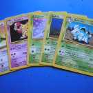 LOT OF 5 POKEMON COLLECTIBLE CARDS - JIGGLYPUFF/NIDORINA/KADABRA/ODDISH/BELLSPROUT!