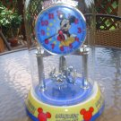 DISNEY MICKEY MOUSE PORCELAIN BASE GLASS DOME ANNIVERSARY CLOCK!
