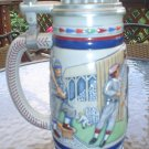 AVON GREAT AMERICAN BASEBALL LIDDED STEIN - LIMITED EDITION - CERAMARTE - 1984!