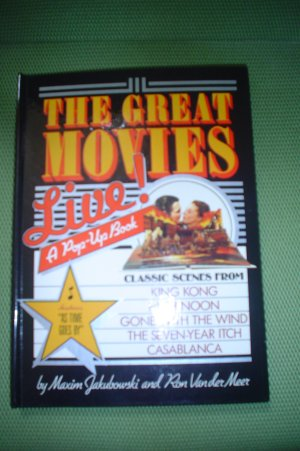 THE GREAT MOVIES: LIVE (POP-UP BOOK) -HARDCOVER by MAXIM JAKUBOWSKI & RON VAN DER MEER!