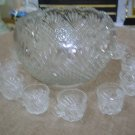 """Victorian Elegance"" LE SMITH GLASS PINEAPPLE PUNCH BOWL–HEIRLOOM QUALITY–JUST GORGEOUS!"