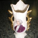 GEORGE WASHINGTON MINIATURE PORCELAIN VASE - UNIQUE & RARE!